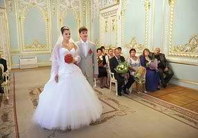 Съемка церемонии бракосочетания